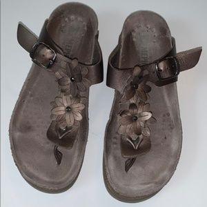 Hortense' Flower Embellished Thong Sandal Size 7